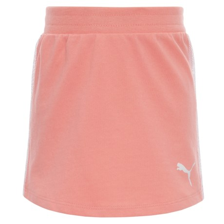 Puma French Terry Skirt (For Little Girls) in Shell Pink