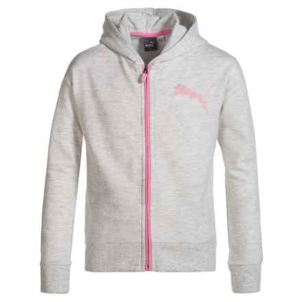 Puma French Terry Zip Hoodie (For Big Girls) in Gray - Closeouts