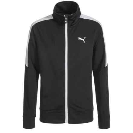 Puma Full-Zip Track Jacket (For Boys) in Puma Black - Closeouts