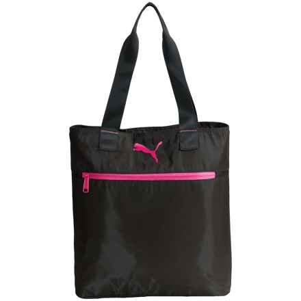 Puma Fundamentals Shopping Tote Bag (For Women) in Black/Pink - Closeouts