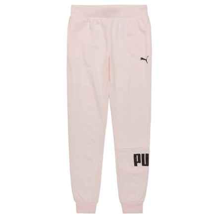 Puma Glitter Logo Joggers (For Big Girls) in Pearl - Closeouts