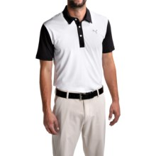 Puma Golf Back Print Polo Shirt - UPF 40+, Short Sleeve (For Men) in White/Black - Closeouts