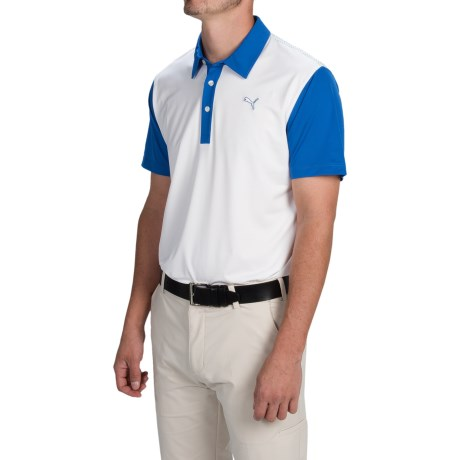 Puma Golf Back Print Polo Shirt UPF 40+, Short Sleeve (For Men)