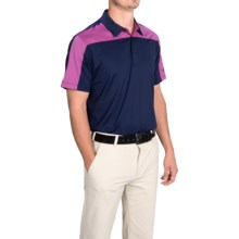 Puma Golf Color-Block Polo Shirt - UPF 40+, Short Sleeve (For Men) in Peacoat/Vivid Viola - Closeouts