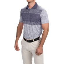 Puma Golf Novelty Stripe Polo Shirt - UPF 40+, Short Sleeve (For Men) in Folkstone Gray - Closeouts