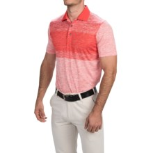 Puma Golf Novelty Stripe Polo Shirt - UPF 40+, Short Sleeve (For Men) in Puma Red - Closeouts