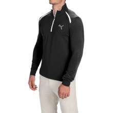 Puma Golf Pullover Shirt - UPF 40+, Zip Neck, Long Sleeve (For Men) in Black - Closeouts