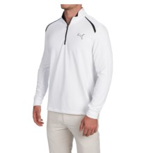 Puma Golf Pullover Shirt - UPF 40+, Zip Neck, Long Sleeve (For Men) in White - Closeouts