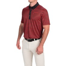 Puma Golf Stripe Polo Shirt - UPF 40+, Short Sleeve (For Men) in Puma Red/Black - Closeouts