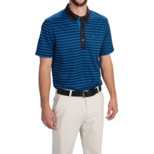 Puma Golf Stripe Polo Shirt - UPF 40+, Short Sleeve (For Men) in Strong Blue/Black - Closeouts
