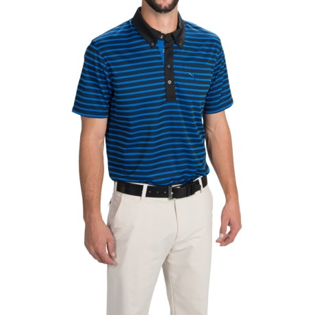 Puma Golf Stripe Polo Shirt UPF 40+, Short Sleeve (For Men)