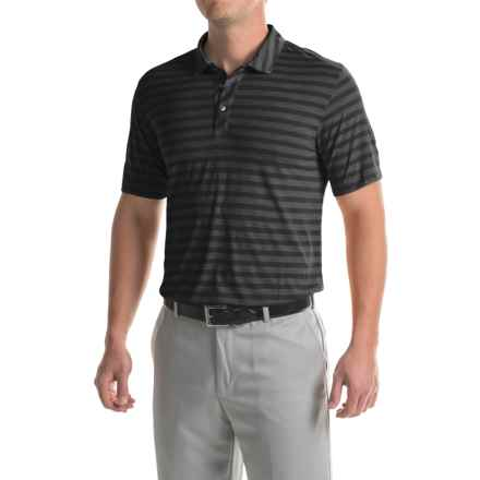 Puma Golf Striped Crest Polo Shirt - Short Sleeve (For Men) in Black - Closeouts