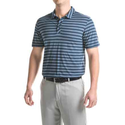 Puma Golf Striped Crest Polo Shirt - Short Sleeve (For Men) in Peacoat - Closeouts