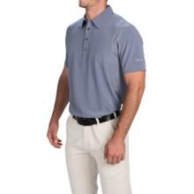 Puma Golf Tech Polo Shirt - UPF 40+, Short Sleeve (For Men) in Folkstone Gray/White - Closeouts