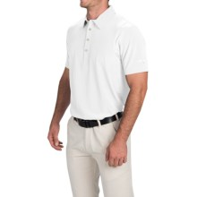 Puma Golf Tech Polo Shirt - UPF 40+, Short Sleeve (For Men) in White/Folkstone Gray - Closeouts