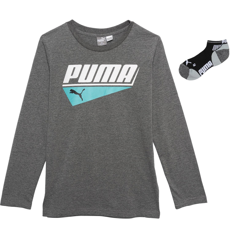 094f7161d111 Puma Graphic T-Shirt and Low-Cut Socks Set (For Big Boys) - Save 37%