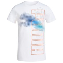 Puma Graphic T-Shirt - Cotton Blend, Short Sleeve (For Little Boys) in Puma White - Closeouts