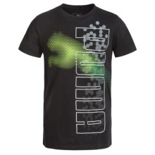 Puma Graphic T-Shirt - Short Sleeve (For Big Boys) in Puma Black - Closeouts