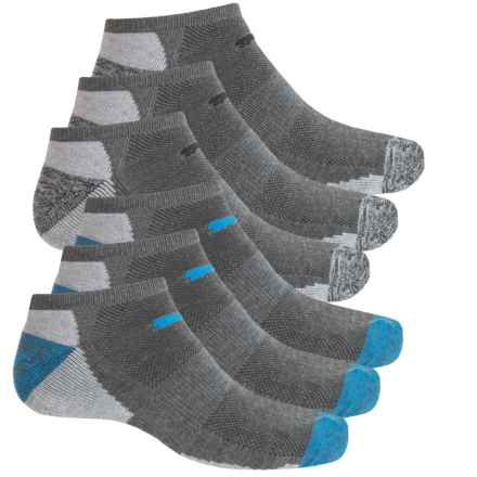 Puma Half Terry Low-Cut Socks - 6-Pack, Ankle (For Men) in Charcoal - Closeouts
