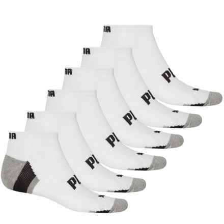 Puma Half Terry Low-Cut Socks - 6-Pack, Ankle (For Men) in White/Black - Closeouts