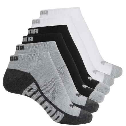Puma Half Terry Low-Cut Socks - 6-Pack, Below the Ankle (For Women) in White Traditional - Closeouts