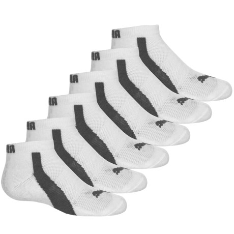 Puma Half Terry Socks - 6-Pack, Below the Ankle (For Big Boys) in White Traditional