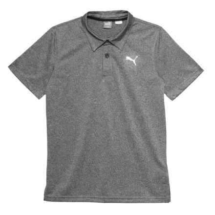 Puma Heather Polo Shirt - Short Sleeve (For Big Boys) in Black Heather - Closeouts
