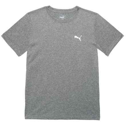 Puma Heather Shirt - Short Sleeve (For Big Boys) in Black Heather - Closeouts
