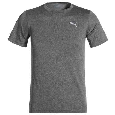 Puma Heathered High-Performance T-Shirt - Short Sleeve (For Little Boys) in Black Heather - Closeouts
