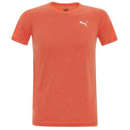 Puma Heathered High-Performance T-Shirt - Short Sleeve (For Little Boys) in Fanta Heather - Closeouts