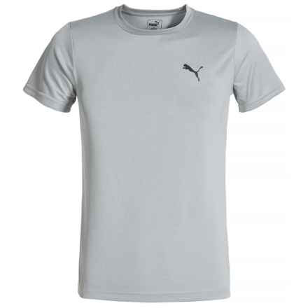 Puma Heathered High-Performance T-Shirt - Short Sleeve (For Little Boys) in Lt Heather Grey - Closeouts