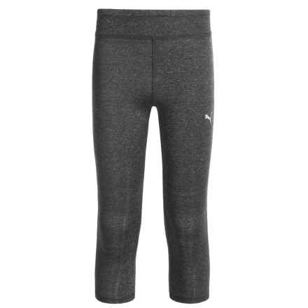 Puma Heathered Solid Capris (For Big Girls) in Ebony Heather - Closeouts