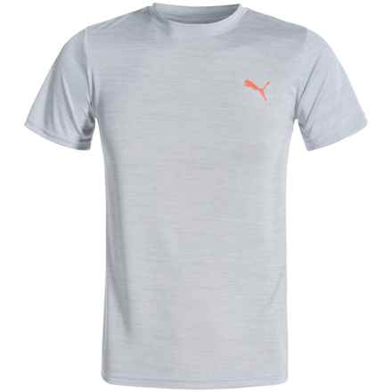 Puma Heathered T-Shirt - Short Sleeve (For Big Boys) in Light Grey Hetaher - Closeouts
