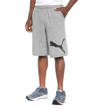 Puma Hero Shorts (For Men) in Medium Gray Heather/Black - Closeouts