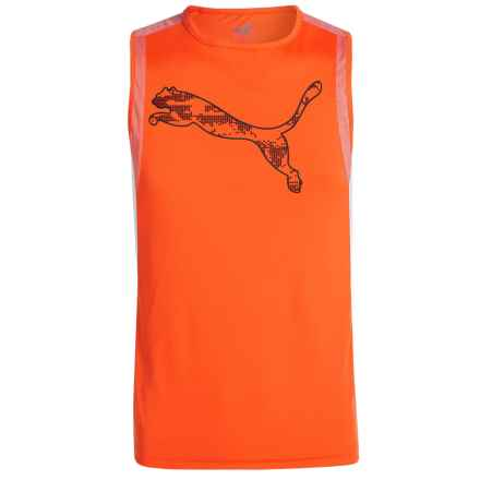 Puma High-Performance Muscle Shirt - Sleeveless (For Little Boys) in Fanta - Closeouts