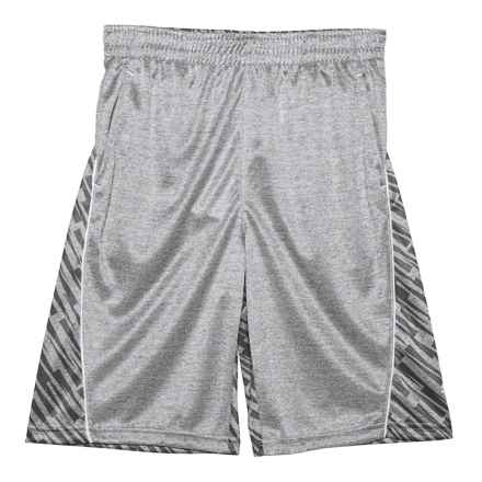 Puma High-Performance Shorts (For BIG Boys) in Light Heather Grey - Closeouts