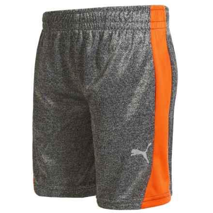 Puma High-Performance Side Stripe Shorts (For Little Boys) in Charcoal Heather - Closeouts