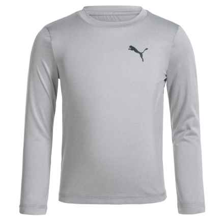 Puma High-Performance T-Shirt - Long Sleeve (For Little Boys) in Light Heather Grey - Closeouts