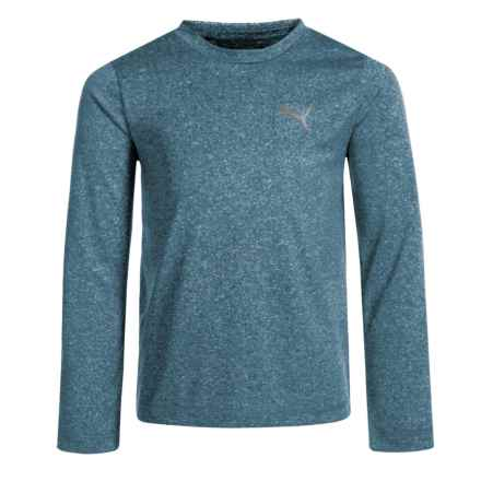 Puma High-Performance T-Shirt - Long Sleeve (For Little Boys) in Sailor Blue Heather P433 - Closeouts