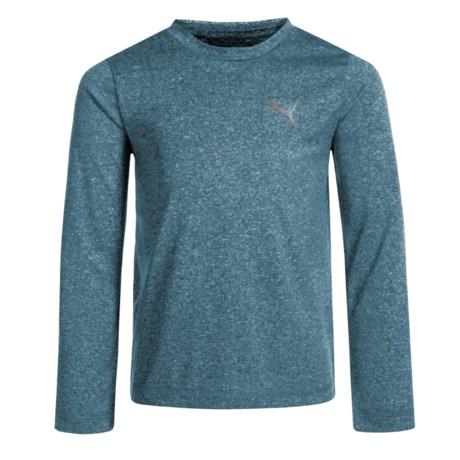 Puma High-Performance T-Shirt - Long Sleeve (For Little Boys) in Sailor Blue Heather P433