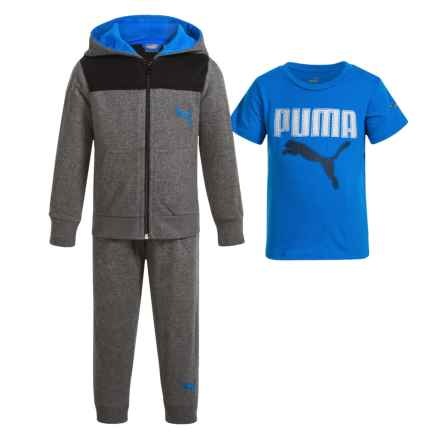 Puma Hoodie, Shirt and Pants Set - 3-Piece (For Infant Boys) in Blue/Grey - Closeouts