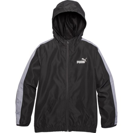 b2619f99 Puma Iron Gate Full-Zip Windbreaker Jacket (For Big Boys) in Iron Gate