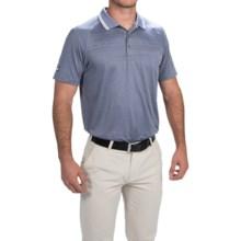 Puma Jacquard Cresting Golf Polo Shirt - UPF 40+, Short Sleeve (For Men) in Folkstone Gray - Closeouts