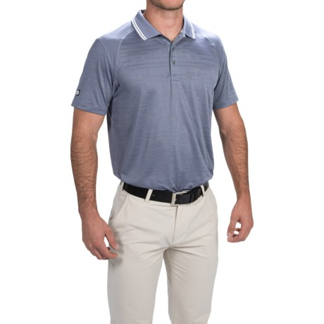 Puma Jacquard Cresting Golf Polo Shirt UPF 40+, Short Sleeve (For Men)
