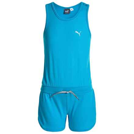 Puma Jersey Romper - Sleeveless (For Big Girls) in Light Blue - Closeouts