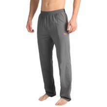 Puma Jersey Sleep Pants - Jacquard Waistband (For Men) in Medium Grey - Closeouts