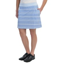 Puma Line Print Golf Skort - UPF 50+ (For Women) in White/Omphalodes/Ultramarine - Closeouts