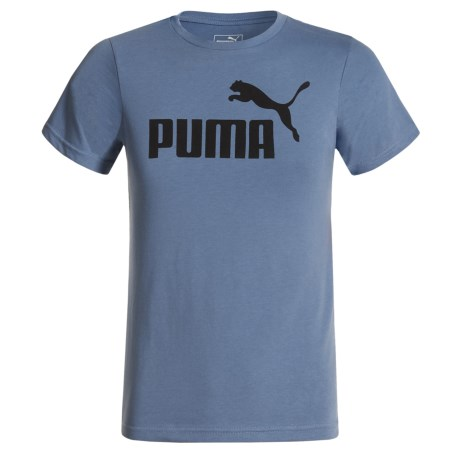 Puma Logo Graphic T-Shirt - Short Sleeve (For Little Boys) in Infinity