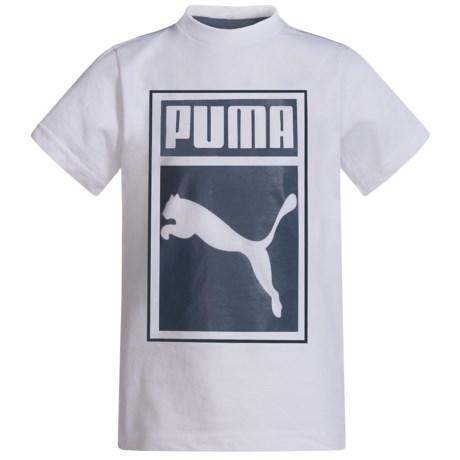 Puma Logo Graphic T-Shirt - Short Sleeve (For Little Boys) in Puma White