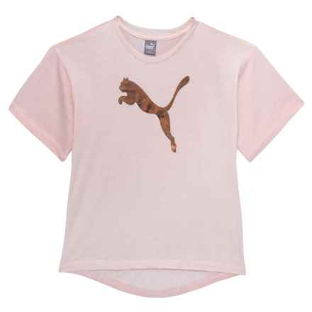 Puma Logo Jersey T-Shirt - Short Sleeve (For Big Girls) in Pearl - Closeouts